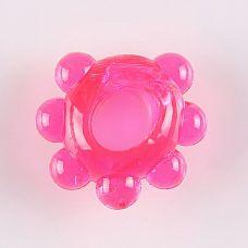 Розовое эрекционное колечко  Цветок   Эрекционное кольцо с пупырышками для дополнительной стимуляции.
