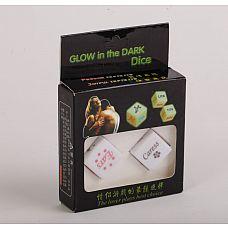Светящиеся в темноте игровые кости для любовных игр  Светящиеся игровые кости для семейных пар и любовников.