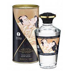 Массажное интимное масло с ароматом ванили - 100 мл.  Разогревающее и съедобное масло для тела с натуральными ароматом ванили.