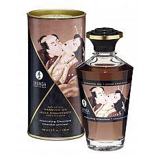 Массажное интимное масло с ароматом шоколада - 100 мл.  Разогревающее и съедобное масло для тела с натуральными ароматом шоколада.