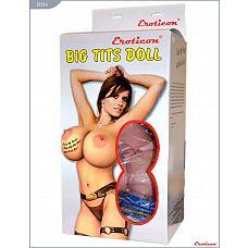 Надувная кукла «Брюнетка» с большой грудью  Кукла «Брюнетка», 3 рабочих отверстия, EROTICON BIG TITS DOLL.