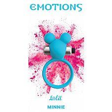 Голубое эрекционное виброколечко Emotions Minnie Breeze  Эрекционное кольцо Emotions Minnie от Lola Toys откроет новые эрогенные зоны у Вас и Вашего партнера, а так же продлит минуты наслаждения.