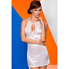 Белая сорочка Catalina с полуоткрытой спинкой  Белая сорочка Catalina, соблазнительно облегающая фигуру.