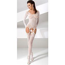 Комбинезон с длинными рукавами и интимным доступом  Комбинезон с длинными рукавами и интимным доступом.