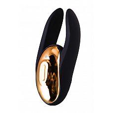 Чёрно-золотой клиторальный вибромассажер WANAME Wave  Клиторальный стимулятор Wave бренда WANAME D-Splash создан самой любовью   любовью к качественному наслаждению, ведь каждая игрушка этого бренда   идеальный баланс технологичности и изысканности.