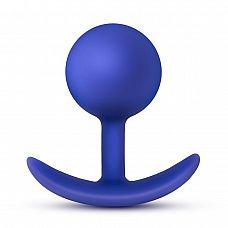 Синяя анальная пробка для ношения Performance Wearable Vibro Plug - 8,4 см.  Синяя анальная пробка для ношения Performance Wearable Vibro Plug.