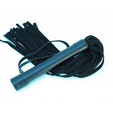 Плеть из замши - 45 см.  Аккуратная черная плетка, изготовленная из натуральной кожи.