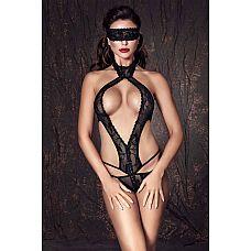 Кружевное боди Alexandra в комплекте с маской на глаза  Кружевной комплект: маска и боди с доступом.