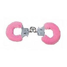 Розовые меховые наручники (ToyJoy 9501)  Металлические наручники в съемном пушистом чехле из искусственного меха розового цвета. Замок фиксируется при помощи ключей.