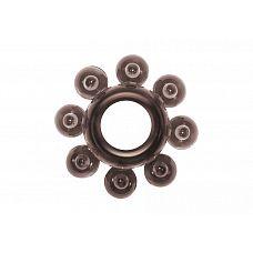 Чёрное эрекционное кольцо Rings Bubbles  Эрекционное кольцо из серии Rings- игрушка, предназначенная исключительно для мужчин.
