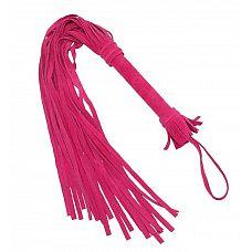 Розовая плеть «Королевский велюр» - 65 см.  Оригинальная розовая плеть «Королевский велюр», изготовлена из высококачественной велюровой кожи, которая на ощупь необычайно бархатистая и мягкая.
