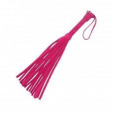 Розовая мини-плеть «Королевский велюр» - 40 см.  Для новичков, желающих перемен, компания Sitabella предлагает прекрасный секс-аксессуар   плеть «Королевский велюр».