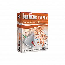 """Презервативы Luxe Tween Индийский гуру Сандал  """"Универсальный презерватив, обладающий одновременно высокой эластичностью и прочностью, что делает использование максимально безопасным."""