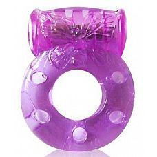 Фиолетовое эрекционное виброкольцо с бабочкой  Один из самых полезных интимных аксессуаров этого сезона - эрекционное кольцо с вибрацией.