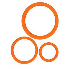 Набор из 3 эрекционных колец оранжевого цвета  Кольца эрекционные в наборе от Sexy Friend состоит из 3 предметовPразного размера.
