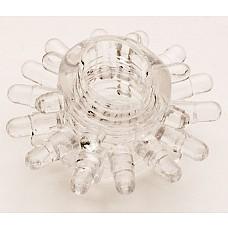 Прозрачное гелевое эрекционное кольцо (ToyFa 818003-1)  Гелевое кольцо с мягкими шишечками для дополнительной стимуляции стенок влагалища и клитора. <br>Насадка также легко  поможет мужчине усилить эрекцию и продлить половой акт. <br>Надевается насадка под головку или основание полового члена.