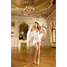 Angel Мини-платье OS (42-46), белый  Покажите класс — захватывающее дух маленькое платье с бретелью-петлей белого цвета подкупает благодаря прекрасным кружевным деталям на передней стороне и груди.