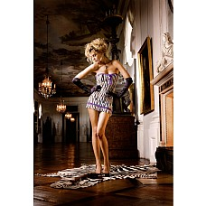 Animal Мини-платье OS (42-46), зебра  Это прекрасное маленькое платье с рисунком «под зебру» с особенно соблазнительным декольте очень удобно в носке благодаря очень тонкому материалу в сетку.