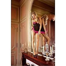 Barbie Мини-платье OS (42-46), черный  Очень прозрачная ночная сорочка черного цвета из особенно тонкого материала в сетку с тонкими бретелями.