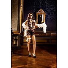Mafia Мини-платье OS (42-46), черный  Удобство и невероятная сексапильность — маленькое платье с бретелью-петлей черного цвета, отделанное прекрасным кружевом с цветочным рисунком, возбуждает фантазию.