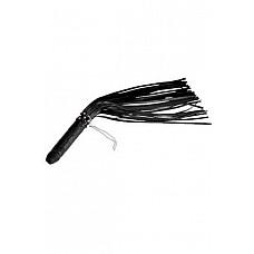 """Плеть """"Ракета"""" черная  Плеть состоит из рукояти изготовленной из натурального гипоаллергенного латекса, имеющей форму фаллоса и 30 гладких хвостов изготовленных из натуральной кожи."""