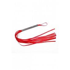 Плеть латексная лента красная  Плеть средняя изготовлена из натурального латекса, имеет 10-12 хвостов длиной 40-45 см.