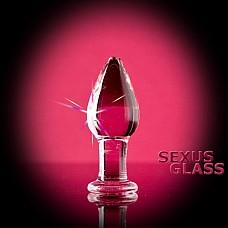 Стеклянная анально-вагинальная пробка ( Sexus-glass  912014)  Длина 11 см.