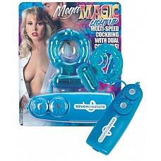 Эрекционное кольцо с вибратором  ( Dream toys 50264)  Эрекционное кольцо с микровибратором и пультом для регулировки скорости.