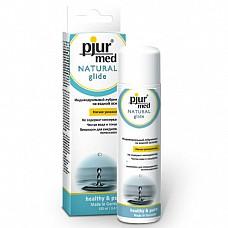 Нейтральный лубрикант на водной основе Pjur MED Natural glide, 100 ml  Лубрикант на водной основе: чистый природный глицерин обеспечивает увлажнение кожи и гарантирует длительный скользящий эффект, заботясь и защищая от сухости нежную кожу, уставшую от стресса. Дерматологически тестирован, подходит для чувствительной кожи. Идеален для ежедневного применения. Мягкое увлажнение. Для сухой или уставшей от стресса кожи.