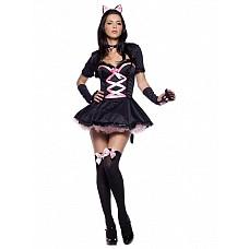 """Костюм """"Грациозная кошечка"""" черный 02371 SM  Перед вами костюм кошки, полный грации и гламура."""