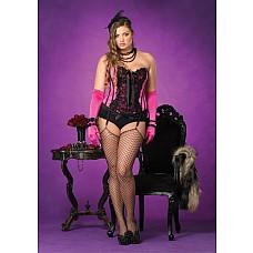 Роскошный корсет Жизель, размер XXL - Leg Avenue, XXL, Черный  Любите винтаж? Предпочитаете красивую утонченную женственную одежду? Тогда этот корсет обязательно придется Вам по вкусу.