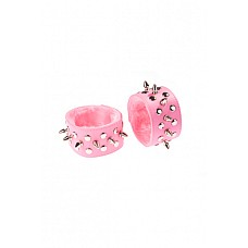 Напульсники розовые  Напульсники изготовлены из искусственной кожи.