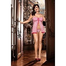 Barbie Мини-платье D (52-54), белый  В этом открытом спереди бебидолле без бретелей, выполненном в белом и розовом цвете, перед вами никто не сможет устоять.