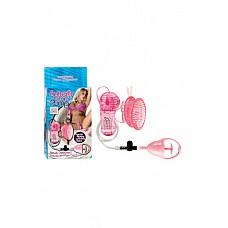 Стимулятор клитора с помпой Butterfly Clitoral Pump с вибрацией розовый  Стимулятор клитора с помпой Butterfly Clitoral Pump с вибрацией - розовая бабочка с блестками внутри, тельце которого покрыто массажными усиками.