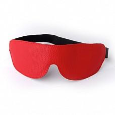 Маска на глаза кожаная литая красная 3081-2  Роскошная маска 3081-2 страстного красного цвета № неотъемлемый интим-атрибут в сексуальных утехах.