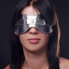 Маска на глаза литая серебристая 5015-6  Литая маска 5015-6 приятно закрывает глаза, не сдавливает, регулируется по объему головы резинкой.