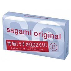 Презервативы Sagami Original 0.02 (6 шт.)  Презерватив притупляет приятные ощущения? Только не в случае с Sagami Original! Ультратонкие презервативы (0,02 мм) позволят насладиться каждой секундой близости и каждым толчком. <br><br> Надёжно защищая от ЗППП и предохраняя от беременности, Sagami Original докажут – с этими кондомами секс становится лучше во всех отношениях!