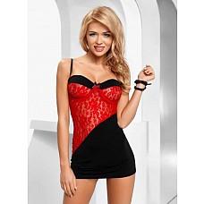 Миниплатье Tiffany red  В комплекте: <br>· сорочка; <br>· трусики.