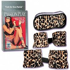Фиксаторы для рук и ног плюс маска 7605-00 BX SE  Леопардовый набор из коллекции Tera Patrick, включающий в себя маску на глаза, фиксаторы для ног и фиксаторы для рук.