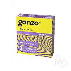 ФармЛайн Презервативы Ganzo Sense № 3