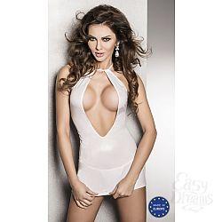 Passion Страстное белое платье с глубоким декольте и открытой спиной Femi - Passion, L/XL, Белый