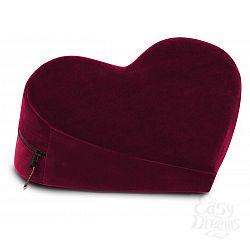 Малая вишнёвая подушка-сердце для любви Liberator Retail Heart Wedge