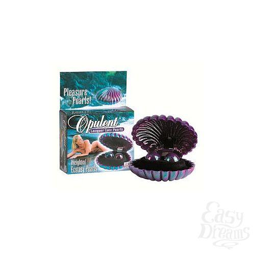 Фотография 1:  Перламутровые фиолетовые вагинальные шарики Opulent Lacquer Cote Pearls