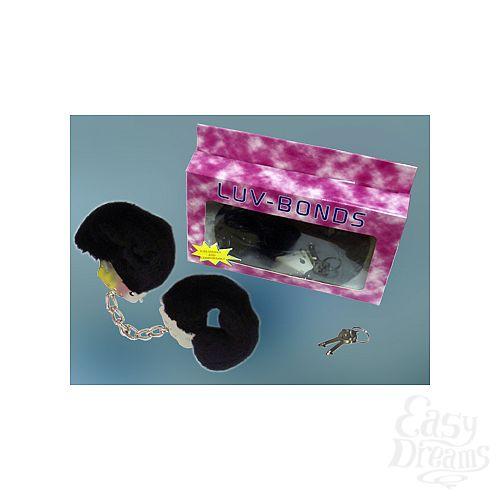 Фотография 1:  Металлические наручники, обшитые черным мехом