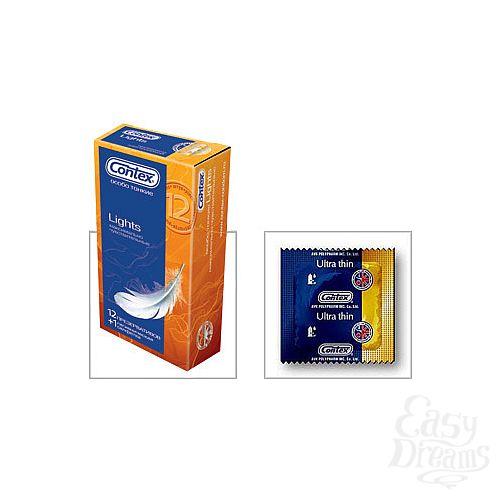 Фотография 1:  Презервативы CONTEX Lights, 12 шт.