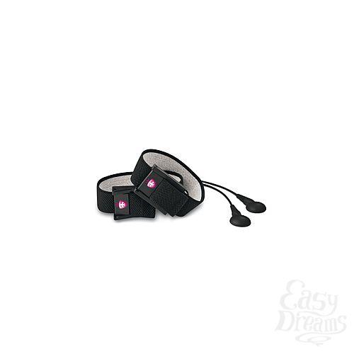 Фотография 2 Mystim Кольца на пенис и мошонку с электростимуляцией Charming Chuck черные