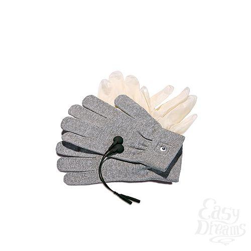 Фотография 2 Mystim Перчатки для электростимуляции Magic Gloves серые