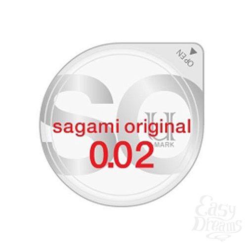 Фотография 1:  Ультратонкий презерватив Sagami Original - 1 шт.