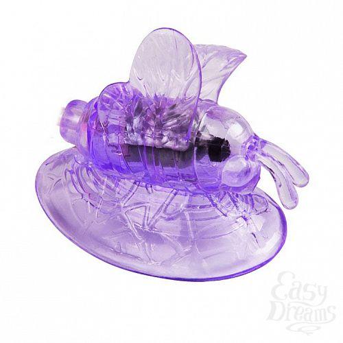 Фотография 2  Стимулятор клитора с вакуумным массажем и вибрирующей бабочкой