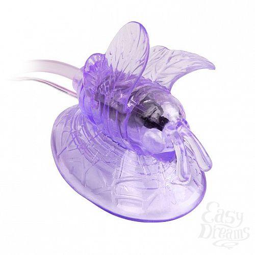 Фотография 3  Стимулятор клитора с вакуумным массажем и вибрирующей бабочкой